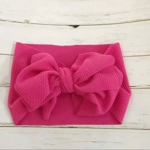 Other - Pink bow headband